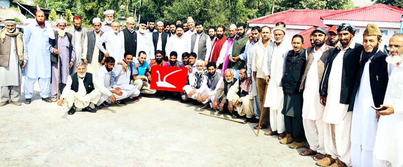 NC activists at party meeting in Poonch.