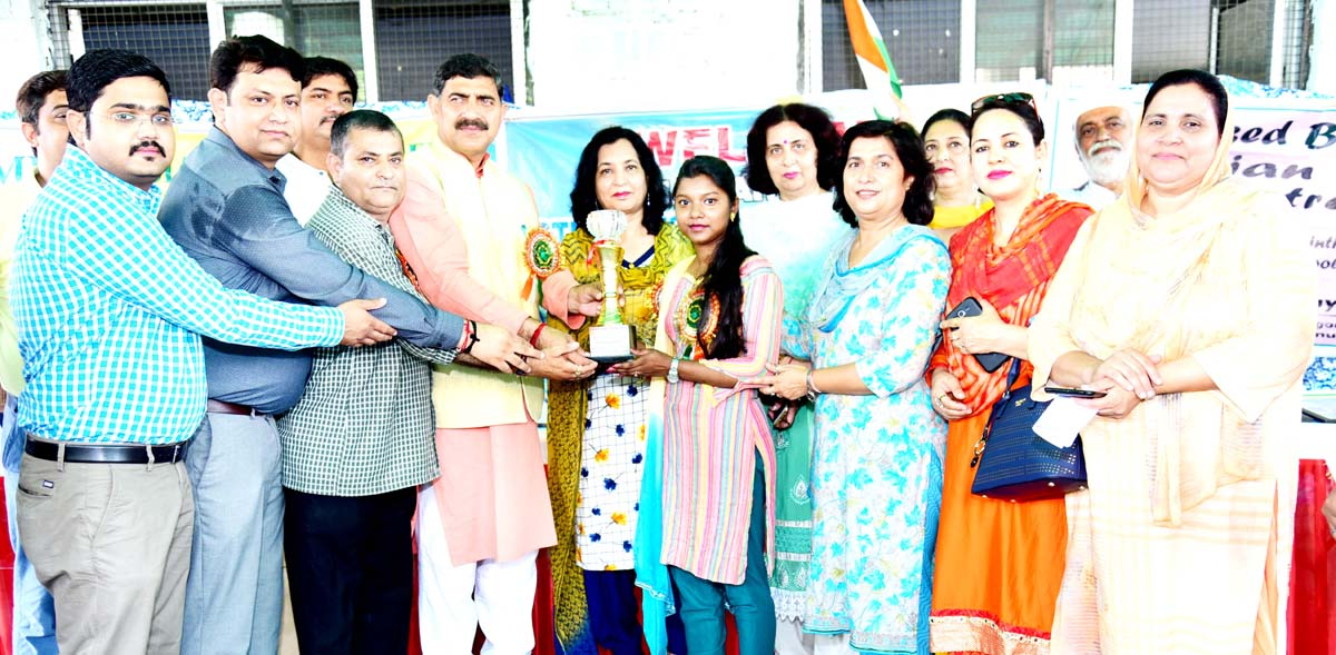 MP Jugal Kishore Sharma inaugurating Basohli Art Exhibition at Jammu on Thursday.