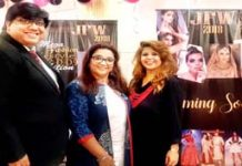 Pallab Bose, CEO, Jammu Fashion Show Week and other posing for photograph.