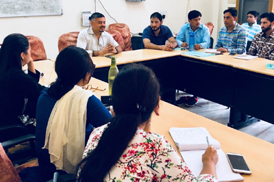 Amit Sharma, Director Food, Civil Supplies and Consumer Affairs addressing Assistant Professors from different states in Jammu on Wednesday.
