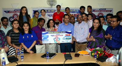 Eminent Academician Prof Chand Trehan, along with Dr Rashid Choudhary, Founder & CEO of the Race Narayana Academy and others launching 'Super Student Contest'.