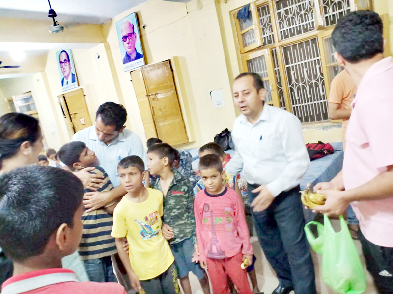 Children rescued from an illegaly run hostel in Kathua on Friday. — Excelsior/Madan