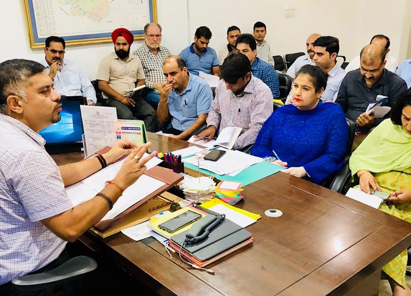 Director FCS&CA Amit Sharma chairing a meeting on Saturday.