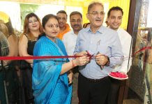Former Deputy Chief Minister, Kavinder Gupta inaugurating 'Celebrating Vivah' at Kay Tee Designer Studio in Jammu on Wednesday. —Excelsior/Rakesh