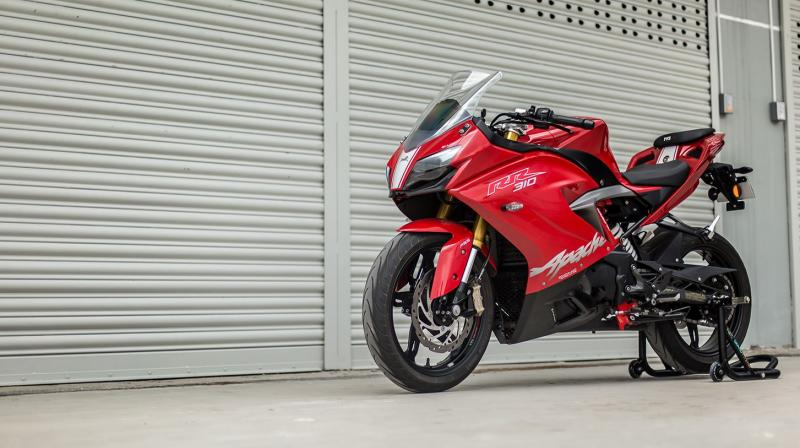 TVS Motor launches TVS Apache RR 310 at auto show in Nepal