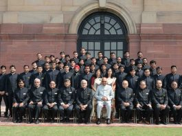 President, Ram Nath Kovind with the Trainee Assistant Executive Engineers of 2018 Batch and Probationary Deputy Architects from the National CPWD Academy, Ghaziabad, at Rashtrapati Bhavan, in New Delhi on Monday.