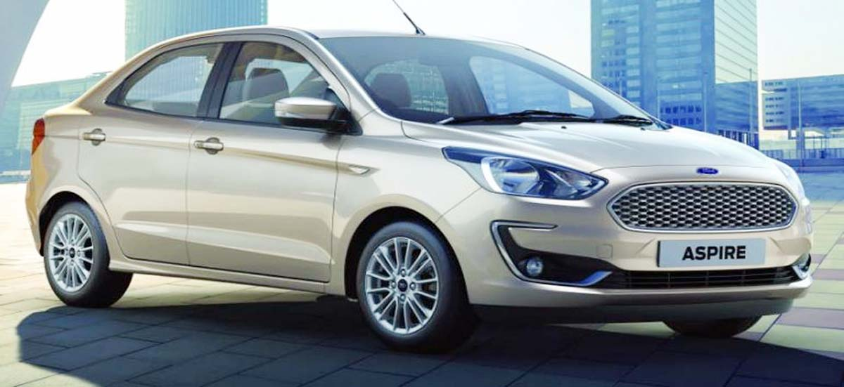 Ford India Drives In New Aspire Price Starts At Rs 5 55 Lakh