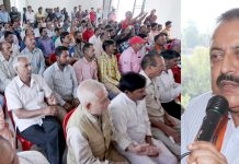 Union Minister, Dr Jitendra Singh addressing a party function at Udhampur on Tuesday. -Excelsior/Rakesh
