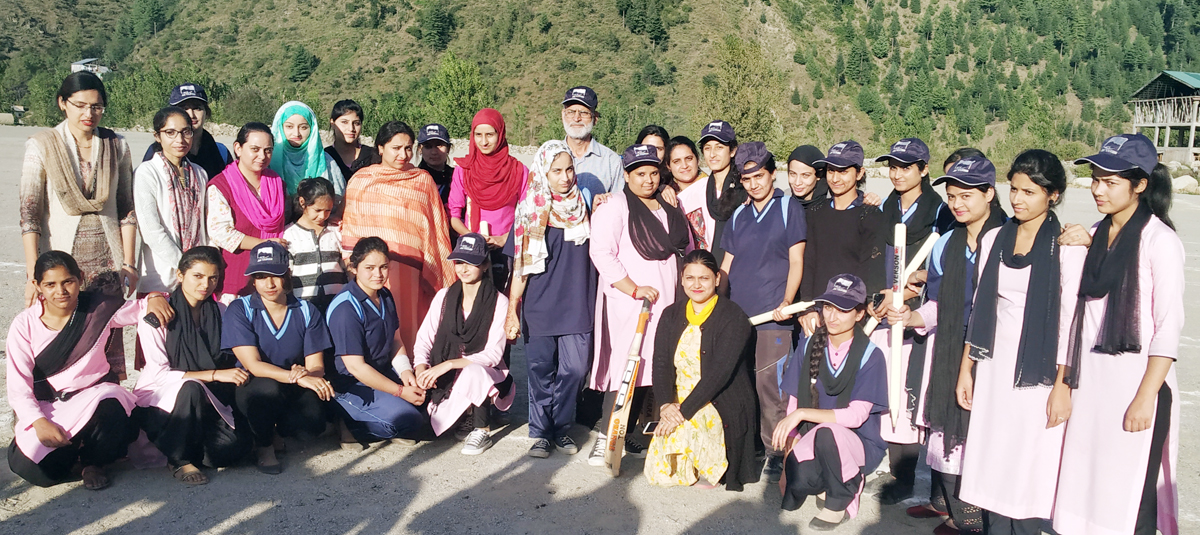 Winners of Women's T20 match posing along with dignitaries and officials at Bhaderwah Campus on Wednesday.