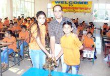 Winners posing alongwith Director Career Abacus Arvind Sharma in Jammu on Sunday.
