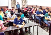 Aspirants during NAT 2019 held by Vidyamandir Classes in Jammu.