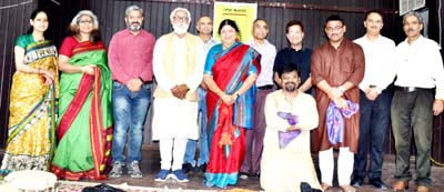 Dignitaries from JU and Musical World posing for a photograph during 'Fall Retreat' prog on Thursday.