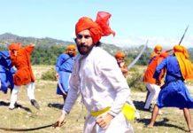 A scene of Balwant Thakur's film 'Gulabgatha'.