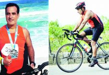 Kapil Arora in action during Ironman Championship at Rio de Janeiro in Brazil.