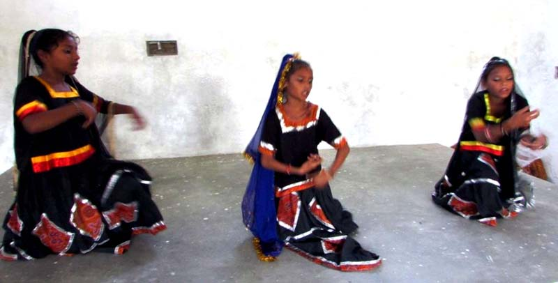 Children presenting a dance item.