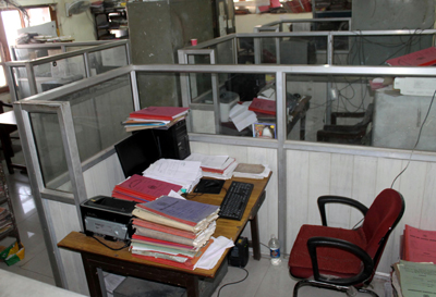 A deserted view of an office in Directorate of Health Services, Jammu on Wednesday. -Excelsior/Rakesh