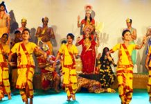 A scene from 'Mata Ki Kahani' show staged at Katra during Navratra Festival.