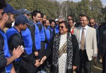 Chief Justice J&K High Court, Justice Gita Mittal interacting with players while inaugurating T-20 J&K Legal Premier Cricket League.