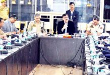Advisor K Vijay Kumar chairing a review meeting of Jammu Kashmir Armed Police on Monday.