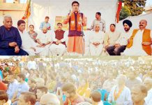BJP State president, Ravinder Raina addressing party activists at Jammu on Saturday.
