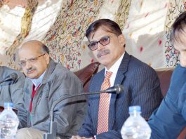 Advisor and CS during public grievances camp in Bandipora on Sunday.