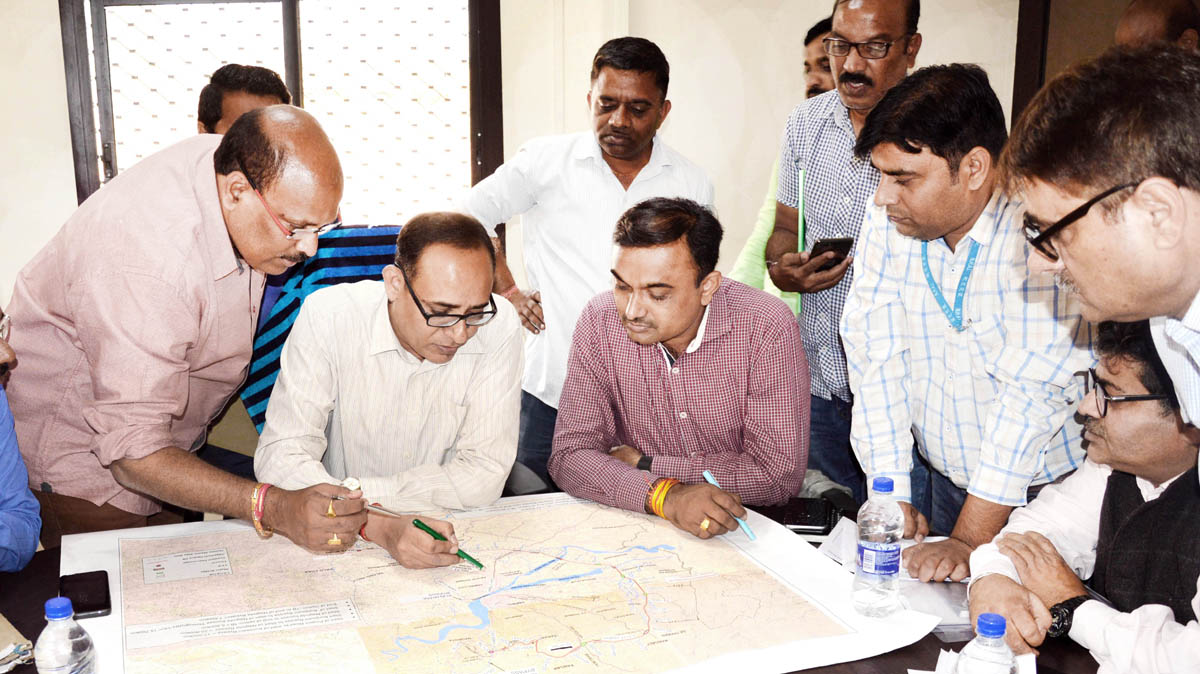 Principal Secretary Planning, Development & Monitoring Department Rohit Kansal checking Master Plan for Jammu Ring Road project on Tuesday.