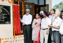 VC SKUAST-J, Dr Pardeep Sharma inaugurating new building at Chatha Campus on Monday.