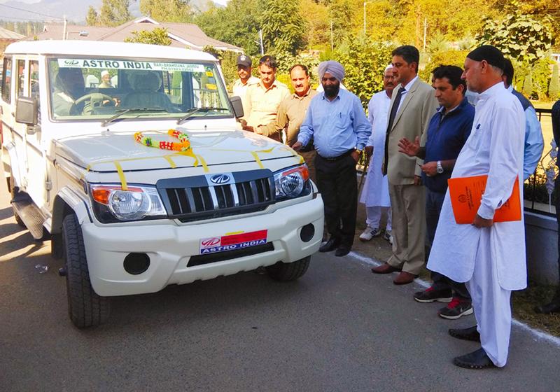 A Bolero Type (4x4) ambulance dedicated to PHC Keran by DDC Kupwara, Khalid Jahangir.