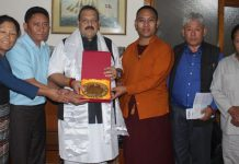 Tibetan MPs team during meeting with NC Provincial President Devender Singh Rana on Thursday.