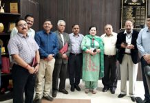 GMC Principal Dr Sunanda Raina along with other participants at IEC meeting on Monday.