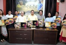 Dignitaries releasing Soz-E-Dil at Jammu on Sunday.
