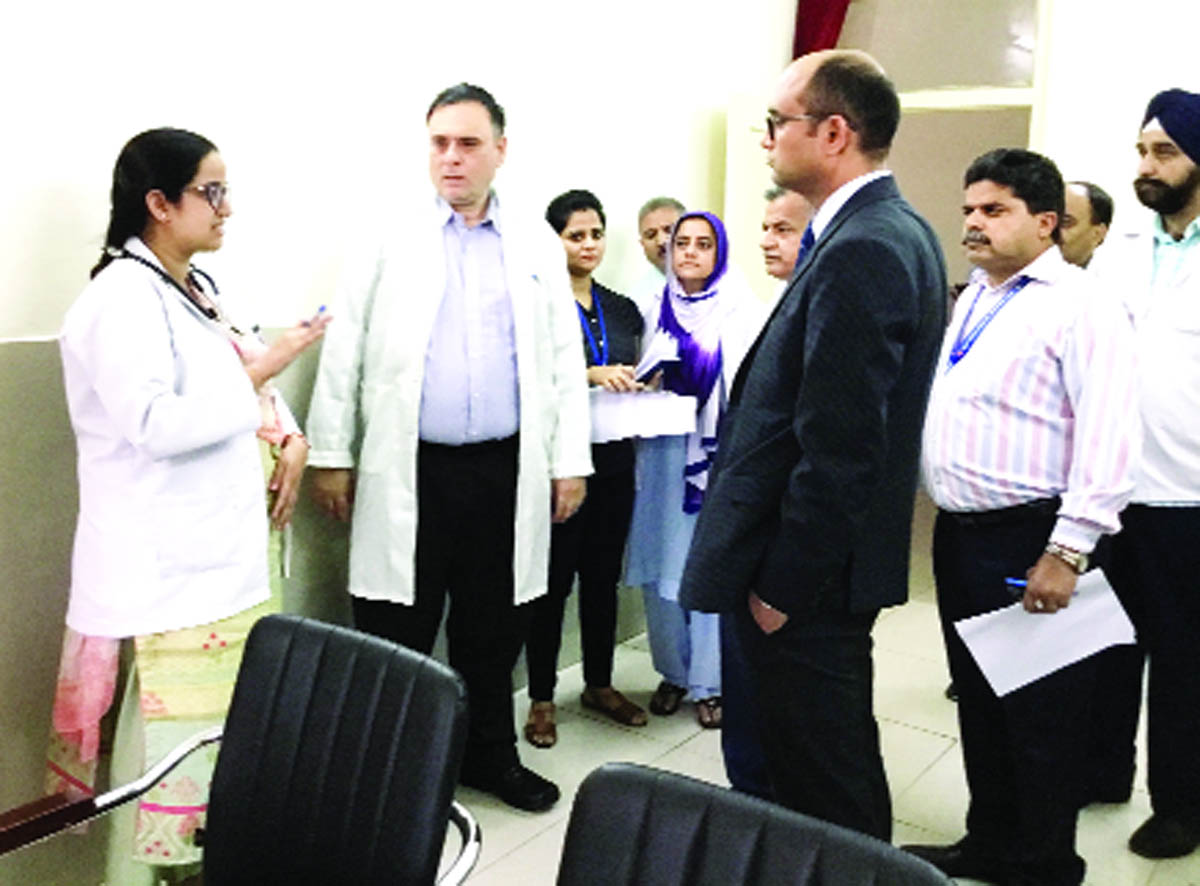A team of DHS Jammu during inspection of Government Hospital Gandhi Nagar in Jammu.
