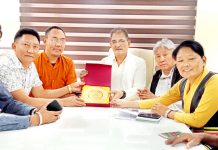The deputation of Indian Parliament in Exile during a meeting with former DyCM, Kavinder Gupta in Jammu on Tuesday.