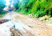 Condition of Latti-Jakhed Road in Udhampur.