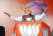 Prime Minister Narendra Modi address an election rally for the second phase of Chhattisgarh Assembly elections.