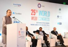 Union Minister for Finance and Corporate Affairs, Arun Jaitley delivering the inaugural address at the World Congress of Savings & Retail Banks, in New Delhi on Thursday.