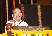 Vice President, M. Venkaiah Naidu delivering the Laxmanrao Inamdar Memorial Lecture on Cooperatives, organised by Sahakar Bharati, in Mumbai on Thursday.