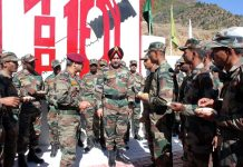 Northern Command chief Lt Gen Ranbir Singh during his visit to Kishtwar on Thursday.