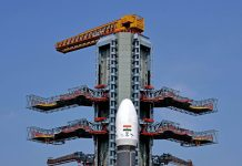 India's GSLV MkIII-D2 carrying Communication Satellite GSAT-29 scheduled to be launched tomorrow from the Satish Dhawan Space Centre at second launch pad, in Sriharikota on Tuesday. (UNI)