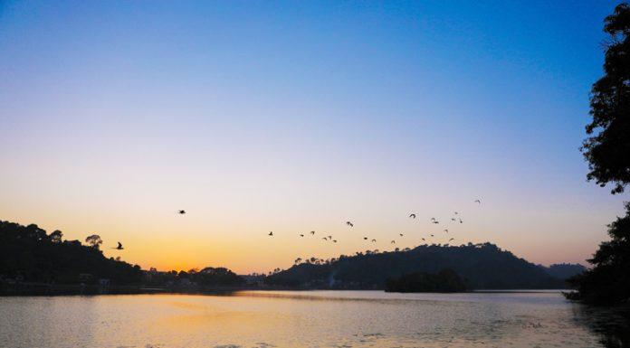 Sunset over Surinsar lake.....