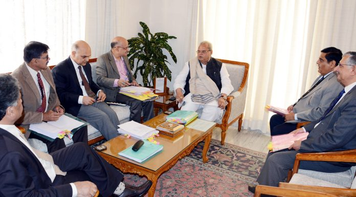The SAC chaired by Governor Satya Pal Malik meeting in Jammu on Wednesday.