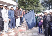 DC Udhampur Ravinder Kumar flagging of Mansar to Mahoregarh trek.