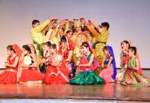 Children presenting cultural item during Annual Day function.