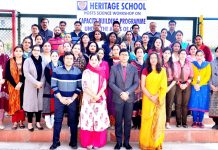 Educators posing for photograph after participating in Science Workshop.