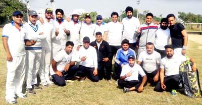 Media XI defeats LIC XI by 13 runs in a friendly tie.