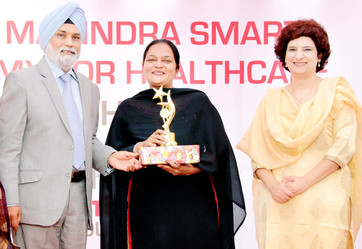 Dignitaries during first anniversary celebrations of Tech Mahindra Smart Academy for Healthcare.