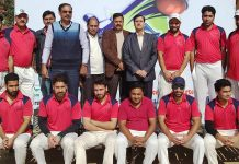 Players and dignitaries posing for group photograph at Parade Ground Jammu on Friday.