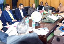 Speaker Dr Nirmal Singh chairing a meeting on Tuesday.