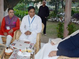Governor S P Malik interacting with a delegation on Friday.