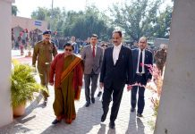 Chief Justice Gita Mittal during visit to District Court Complex Kathua on Saturday.